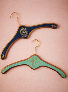 Custom hangers for the perfect dress shot