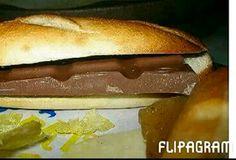 Bocata de chocolate. Hot Dog Buns, Hot Dogs, Bread, Chocolate, Retro, Food, Childhood, Memories, Meal