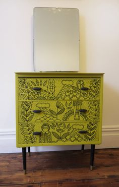 Doodled chest of drawers