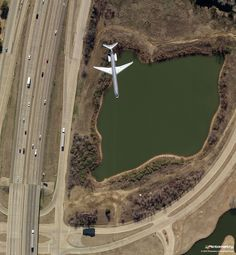 How cool is this Pictometry shot? An American Airlines jet on approach to Dallas/ Fort Worth International Airport