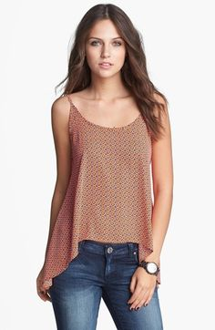 Soprano Scoop Back Camisole (Juniors) available at #Nordstrom LOVE this one! i want it in all the prints!!