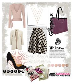 A fashion look from March 2016 featuring etro shirts, long line blazer and polka dot a line skirt. Browse and shop related looks. Deborah Lippmann, Christian Louboutin, Forever 21, Zara, Shoe Bag, Polyvore, Stuff To Buy, Shopping, Collection