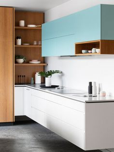 Modern Kitchen Design – Want to refurbish or redo your kitchen? As part of a modern kitchen renovation or remodeling, know that there are a . Kitchen Sets, Home Decor Kitchen, Interior Design Kitchen, Kitchen Furniture, Home Kitchens, Diy Kitchen, Kitchen White, Modern Interior, Kitchen Corner