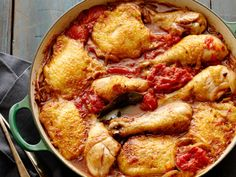 Get this all-star, easy-to-follow Braised Chicken Thighs and Legs with Tomato recipe from Alex Guarnaschelli