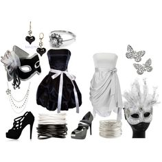 Elegant Black And White Masquerade Inspiration