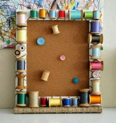 A cute cork board idea for all my sewing friends!