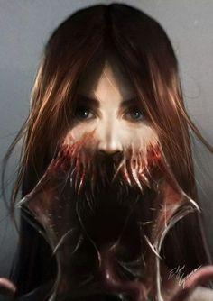 . Creepy Horror, Scary, Afraid Of The Dark, Werewolf, The Darkest, Beast, Art Drawings, Digital Art, Darth Vader