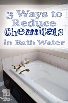 Water filters make our drinking water safer, but what about the water we bathe and shower in? Here's a post detailing how to reduce the chemicals in your bath water.