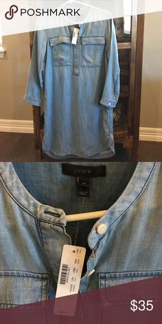 Brand new with tags J crew denim dress Super soft and light weight dress. Adorable and classic! J. Crew Dresses Midi
