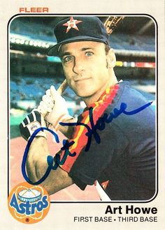 moneyball art howe 1983 fleer houston astros signed card autographed from $9.99