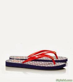 Spring summer 2014 fashion shoes Tory Burch Flip–Flops