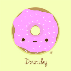 Donut day illustration by Ah Ilustraciones