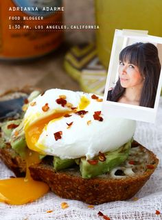 Avocado and egg on toast from A Cozy Kitchen