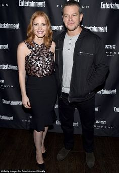 Jessica Chastain and Matt Damon at the Toronto International Film Festival Entertainment Weekly Party.