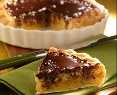 Pastel de almendras y chocolate