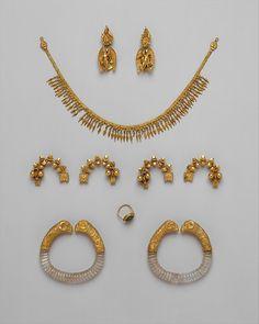 Greek. Ganymede jewelry, ca. 330–300 B.C. The Metropolitan Museum of Art, New York. Harris Brisbane Dick Fund, 1937 (37.11.8–.17)