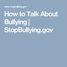 Parents, school staff, and other adults can help prevent bullying. Stop Bullying, Anti Bullying, Bullying Prevention, School Staff, Parenting Hacks, Mental Health, Psychology, Student, Activities