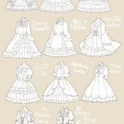 Lolita dress ref Manga Clothes, Drawing Anime Clothes, Dress Drawing, Arte Fashion, Lolita Fashion, Rock Fashion, Fashion Boots, Fashion Design Drawings, Fashion Sketches