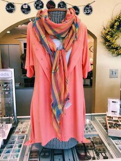 Color Me Coral for Spring! Only at Shoppe Five, Massanutten Resort! #fashion #coral #scarf