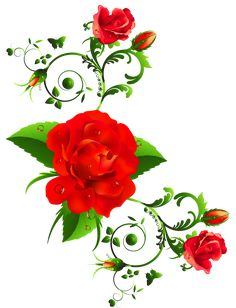 Red Roses Decor Clipart