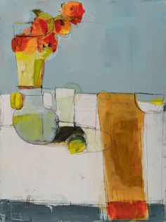 Lisa Noonis is a Maine based mixed-media painter whose work approaches a wide range of subject matter from still life and landscapes to personal narratives. Abstract Drawings, Abstract Oil, Painting Inspiration, Art Inspo, What Is An Artist, Still Life Flowers, Still Life Art, Fruit Art, Abstract Flowers