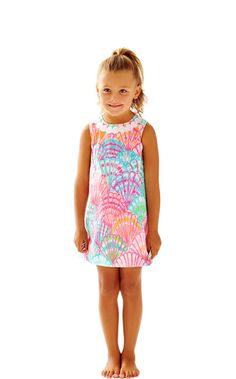 Girls Little Lilly Classic Shift Dress - Lilly Pulitzer Multi Oh Shello