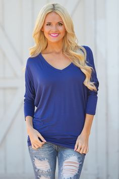 V-Neck Dolman Tops