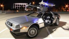 DeLorean for sale, no currency accepted. Cash? Where we're going, we won't need cash.