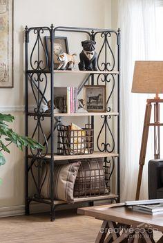 2016 Turn Of Century, Timber 4 Tier Shelf ☆ Creative Co Op Home