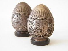 Victorian Fine Dutch Silver Salt & Pepper Shakers