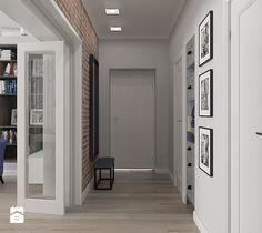Hol / Przedpokój styl Vintage - zdjęcie od MIKOŁAJSKAstudio Tall Cabinet Storage, Locker Storage, Brick, Sweet Home, House Design, Patio, Mirror, Styl Vintage, Outdoor Decor