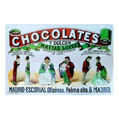 PLACA POSTER CHOCOLATE MATIAS