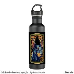 Gift for the fearless, loyal, highly intelligent stainless steel water bottle European Doberman, Mouth Mask Fashion, Use Of Plastic, Drink More Water, Stainless Steel Water Bottle, Dog Friends, Dog Mom, Travel Accessories, Dog Lovers