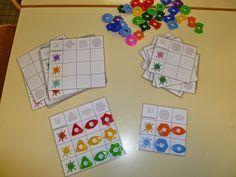 Voici un pdf omprenant : 16 tableaux à 4 cases 19 tableaux à 9 cases Ils sont à remplir avec les perles à abaques de chez Nathan. ... Preschool Games, Preschool Kindergarten, Act Math, Brain Teasers For Kids, Home Schooling, Math Centers, Kids Learning, Shapes, Voici