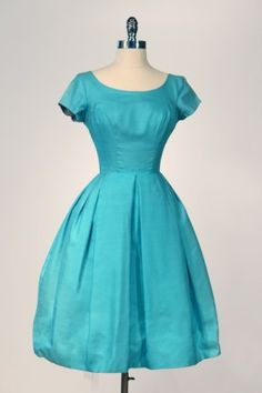 Vintage aqua dress - lovely!