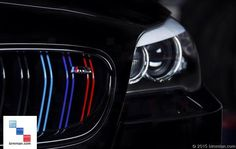 Use Two Strips To Create This Look On A Double Slat Grille. -  - M-Colored Grill Stripe Decals  - Photo #4
