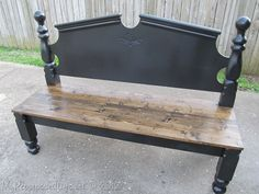 Awesome bench from an old headboard!