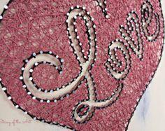 String Art Crafts Kit Love Sign DIY Kit DIY by StringoftheArt