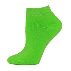 Fluorescent Neon Adult Low-Cut Ankle Socks by Cheerleading Company