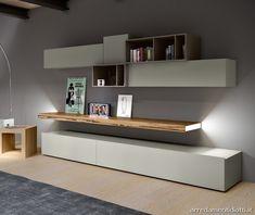 Come arredare una nicchia in un soggiorno moderno: da progetto a ...