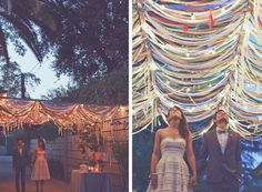 magical streamers! and her dress is so cute