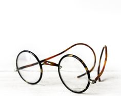 antique french spectacles - tortoise-shell + bakelite