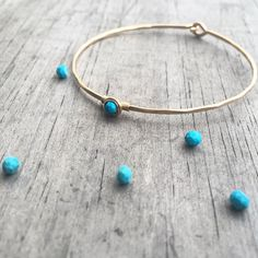 Beautiful turquoise and gold bangle