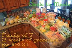 How to feed a family of 7 for $100/week, NO COUPONS needed!  Some really good tips!