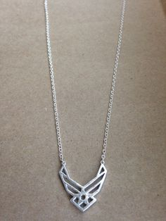 United States Airforce wings necklace from LoveRewardsTheBrave on Etsy. Saved to things I need. Air Force Girlfriend, Military Girlfriend, Army Mom, Girlfriend Quotes, Air Force Love, Us Air Force, Military Brat, Military Quotes, Military Veterans