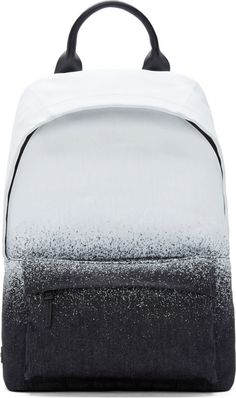 McQ Alexander McQueen Black & White Overpaint Backpack