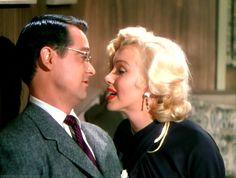"""Marilyn Monroe and Tommy Noonan in """"Gentlemen Prefer Blondes,"""" (1953)."""