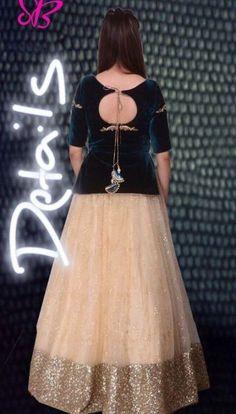 Ideas fashion design projects for kids diy clothes for 2019 Choli Blouse Design, Blouse Designs, Stylish Dresses, Fashion Dresses, Fashion Blouses, Indian Designer Outfits, Designer Dresses, Designer Lehnga Choli, Evening Dress Patterns