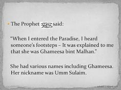 THE COMPANION: Umm Sulaim bint Milhan Al-Ansariyyah - Only Syahadah My Mahar