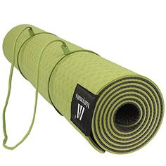 Matymats Yoga Mat  Non Slip TPE High Density Thick 14 Durable Mat 7224 Eco Safe Non Toxic With Carry Bag And Strap for Hot Yoga Pilate Gymnastics Bikram Meditation *** For more information, visit image link.